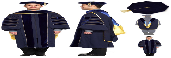 What robes do professors wear at graduation